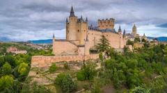 Segovia Castle Stock Footage