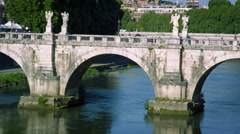 Close-up shot of Ponte Sant'Angelo Stock Footage