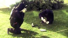 FBI forensic team in crime scene 3 Stock Footage
