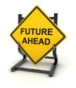 Road sign - future ahead - stock illustration