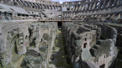 Still shot straight down the middle of the arena in the Colosseum with the Stock Footage