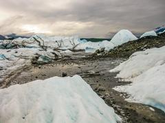 Matanuska Glacier Alaska - stock photo
