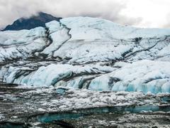 Alaska melting glacier - stock photo