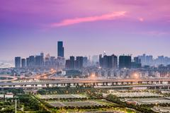 Fuzhou China Cityscape - stock photo