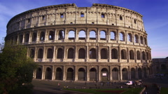 Northern shot of Roman Colosseum Stock Footage