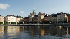 Time lapse from Gamla stan Stockholm in the morning Stock Footage