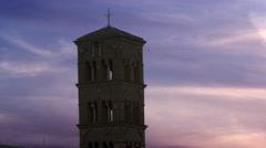 Bell tower of the Santa Francesca Romana Stock Footage