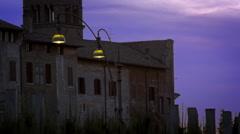 Pan of Santa Francesca Romana and Basilica of Constantine Stock Footage