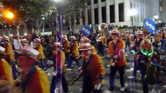 Mardi Gras Endymion Parade - Marching Band Stock Footage