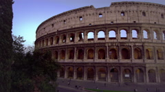 Stock Video Footage of Slow pan of Colosseum and Constantine's Arch