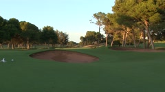 Early Morning  Classic Links Par4 Stock Footage