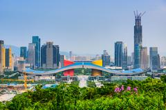 Shenzhen Civic Center District Stock Photos