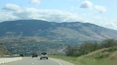 Descending the Okanagan Highway Stock Footage
