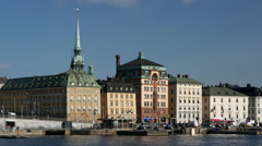 Gamla stan old town in Stockholm Sweden Stock Footage