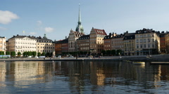 Gamla stan Stockholm in the morning Stock Footage