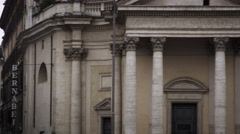 Exterior of buildings and streets in the Piazza del Popolo. Stock Footage