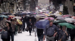 Time-lapse shot of pedestrains and traffic in Rome. Stock Footage