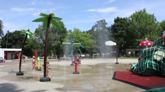 Children in Swimsuits Playing at Water Park  - stock footage