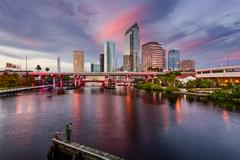 Tampa Skyline Kuvituskuvat