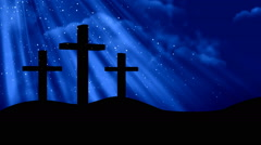 Worship Prayers - 3 Crosses 2-Loopable Background - stock footage