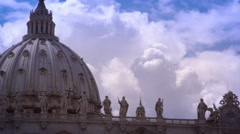 Dome of St. Peters Basilicia Stock Footage