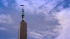 Crowd Square Near St. Peters Basilicia Stock Footage