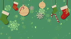 Christmas Retro Background 1– Loopable Background Stock Footage