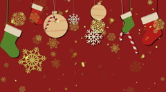 Christmas Retro Background 2– Loopable Background - stock footage