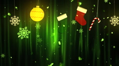 Christmas Cloth Ornaments 1– Loopable Background - stock footage