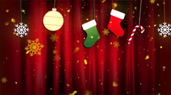 Christmas Cloth Ornaments 2– Loopable Background Stock Footage