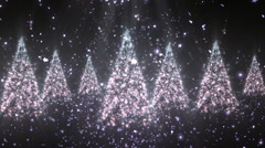 Christmas New Year Tree Glitters 2– Loopable Background - stock footage