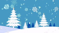 Christmas Landscape 2– Loopable Background - stock footage