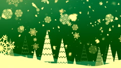 Christmas Snowflakes 2– Loopable Background - stock footage