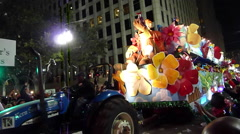Mardi Gras Endymion Parade - Gullivers Travel float Stock Footage