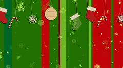 Christmas Stripes 1 - stock footage