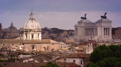 Roman skyline festering St. Peters basilica Stock Footage