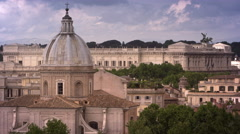Minor domed basilica with Hall of Justice in background Stock Footage