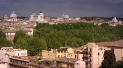 Panoramic footage of Roman skyline Stock Footage