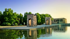 Ancient Egyptian Debot temple. Madrid. Stock Footage