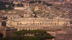 Aerial footage of the Palace of Justice and Castel Sant'Angelo Stock Footage