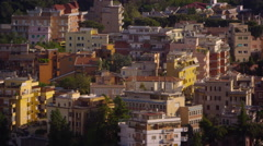 Multistoried buildings of Rome Stock Footage