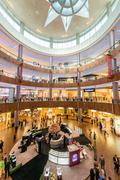 Dubai - AUGUST 7, 2014: Dubal Mall shopping mall on August 7 in Stock Photos