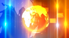 Global Spinning News Opener 1-Loopable Background - stock footage