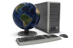 Desktop PC Stock Illustration