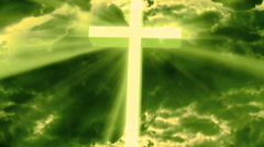 Worship Religious God Rays 2 Stock Footage