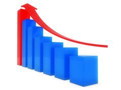 Business chart - stock illustration