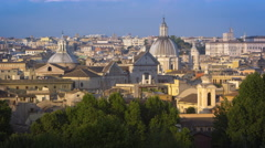 Dome of San Carlo al Corso and another dome from the Pincio Stock Footage