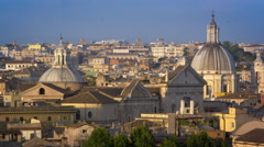 San Carlo al Corso and another dome from the Pincio Stock Footage