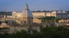 Still footage of the Palace of Justice behind the San Giovanni dei Fiorentini Stock Footage
