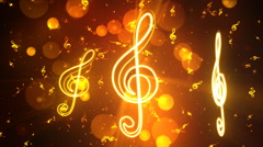Bright Spinning Music Notes 2 Loopable Background - stock footage